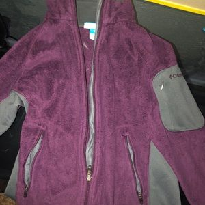 Dark Purple Columbia Zip up Sweater